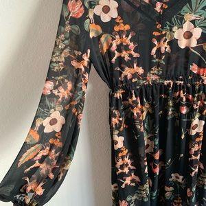 Sheer Floral Maxi Dress